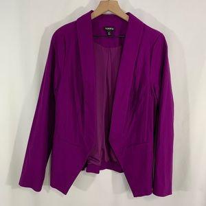 Torrid open front blazer size 0 / Large / 12
